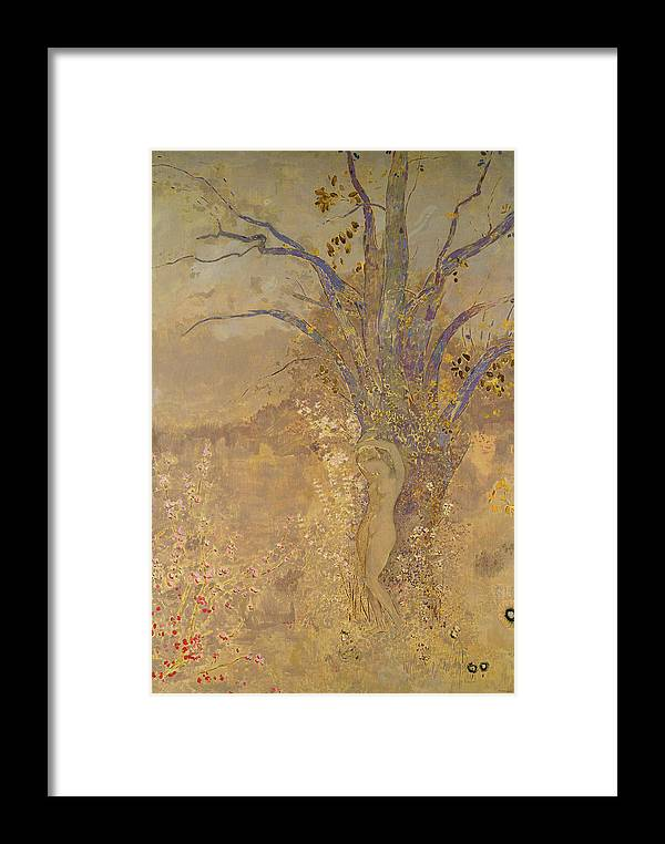Odilon Redon Framed Print featuring the painting Rebirth, Spring, 1908 by Odilon Redon