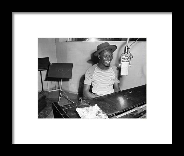 Singer Framed Print featuring the photograph Recording At Capitol Records by Michael Ochs Archives
