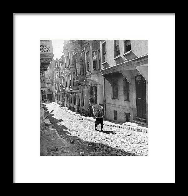 Istanbul Framed Print featuring the photograph Red Light District by George Pickow