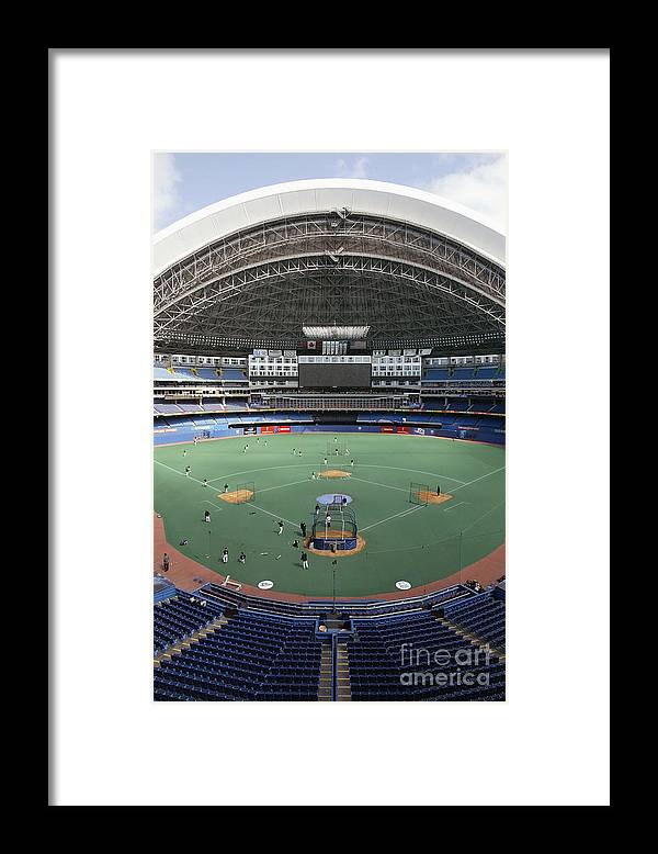 People Framed Print featuring the photograph Red Sox V Bluejays by Rick Stewart