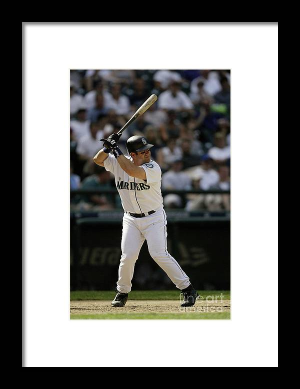 American League Baseball Framed Print featuring the photograph Red Sox V Mariners by Otto Greule Jr