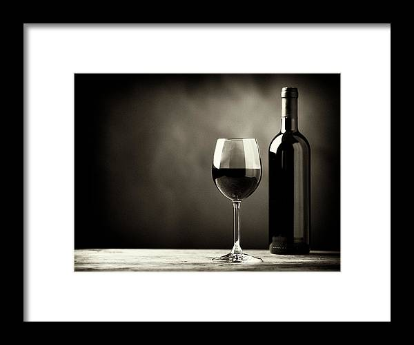Alcohol Framed Print featuring the photograph Red Wine by Kaisersosa67