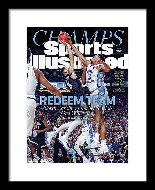 Sports Illustrated Framed Print featuring the photograph Redeem Team North Carolina Finishes The Job one Year Later Sports Illustrated Cover by Sports Illustrated