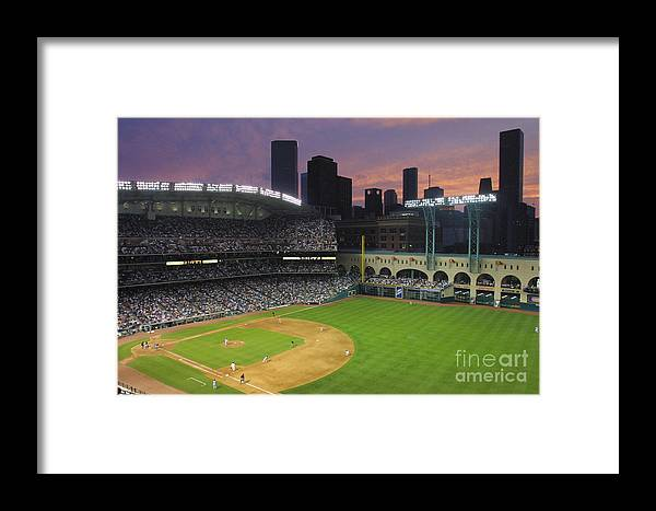 Minute Maid Park Framed Print featuring the photograph Reds V Astros X by Ronald Martinez