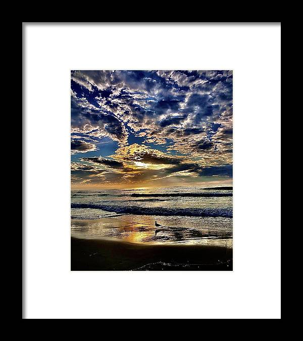 Sunsets Framed Print featuring the photograph Reflecting On The Day by Michael Klahr