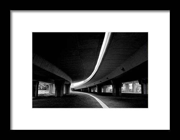 Freeway Framed Print featuring the photograph Reflection In Shadow by Edward Swearingen