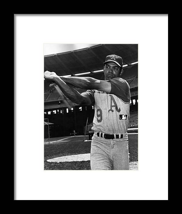 People Framed Print featuring the photograph Reggie Jackson by Hulton Archive
