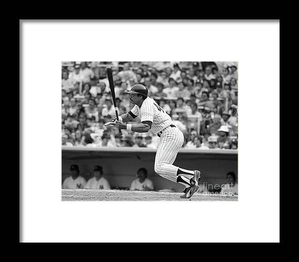 People Framed Print featuring the photograph Reggie Jackson New York Yankees by Mitchell Reibel