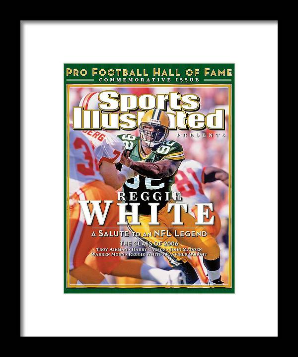 Tampa Framed Print featuring the photograph Reggie White, 2006 Pro Football Hall Of Fame Class Sports Illustrated Cover by Sports Illustrated