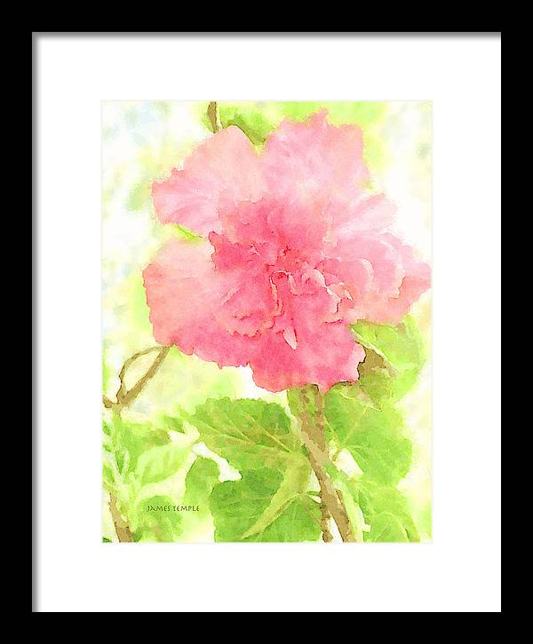 Remember When Framed Print featuring the digital art Remember When by James Temple