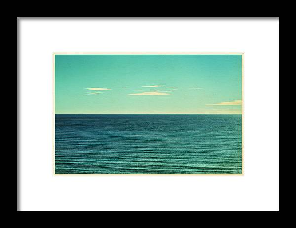 Scenics Framed Print featuring the photograph Retro Seascape Postcard by Farukulay