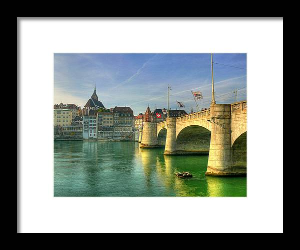 Outdoors Framed Print featuring the photograph Rhine Bridge In Basel by Richard Fairless