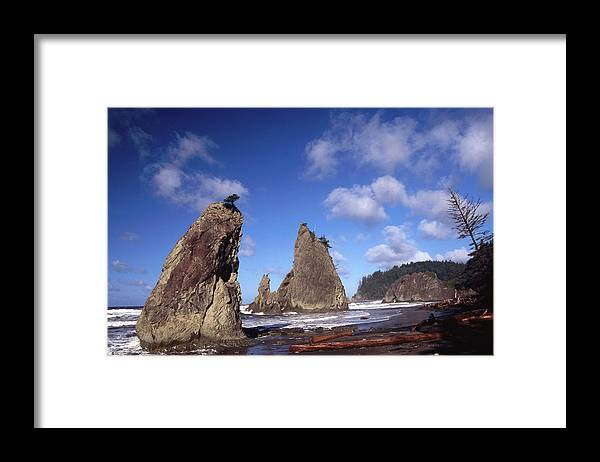 Toughness Framed Print featuring the photograph Rialto Beach by Mark Newman
