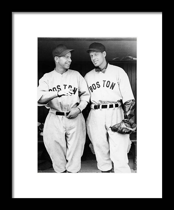 Plan Framed Print featuring the photograph Rick And Wes Ferrell Of The Red Sox by Fpg