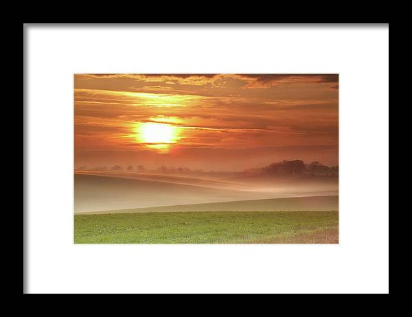 Tranquility Framed Print featuring the photograph Ripples In Mist by Andy Freer