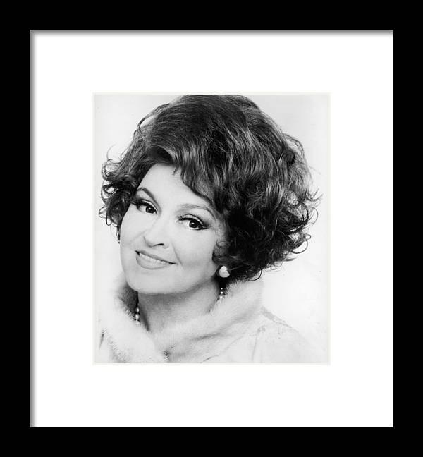 Singer Framed Print featuring the photograph Rita Streich by Erich Auerbach