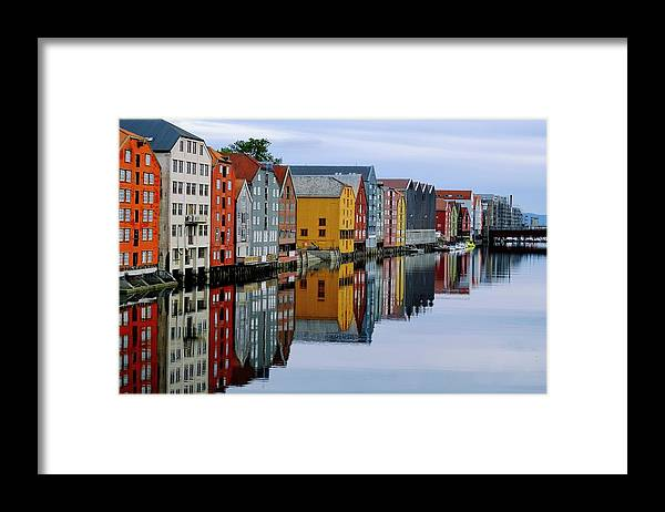 Tranquility Framed Print featuring the photograph River Accommodation 0.2 by Nir Leshem