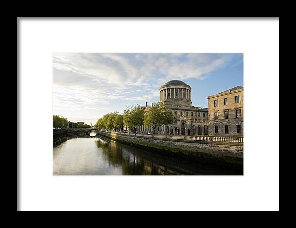 Dublin Framed Print featuring the photograph River Liffey And The Four Courts In by Lleerogers