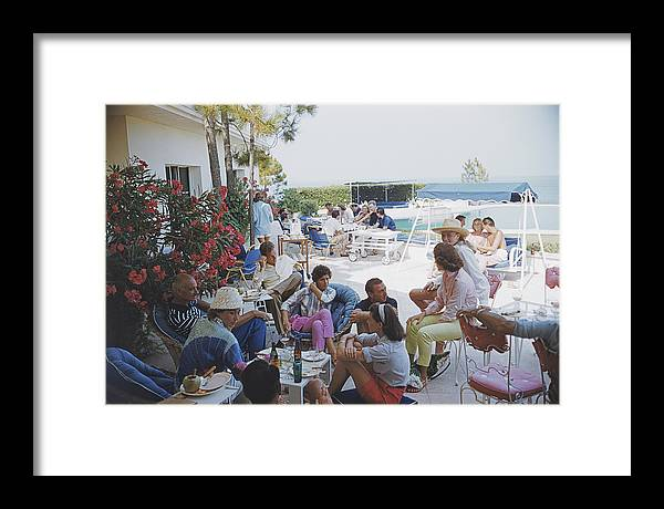 1957 Framed Print featuring the photograph Riviera Crowd by Slim Aarons