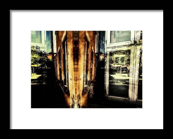 Fine Art Photography Framed Print featuring the digital art Road Block 11 by Ole Klintebaek