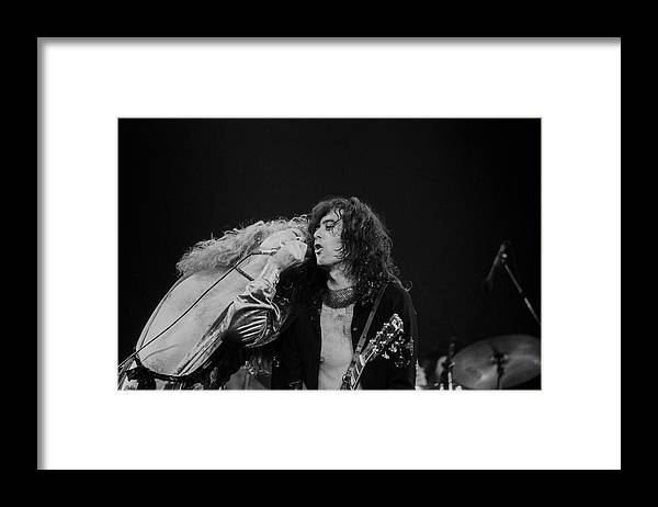 Led Zeppelin Framed Print featuring the photograph Robert Plant And Jimmy Page by Art Zelin
