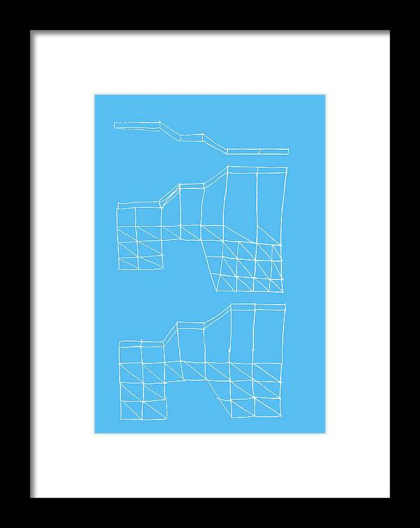 Yifat Gat Framed Print featuring the drawing Robotricks by Yifat Gat