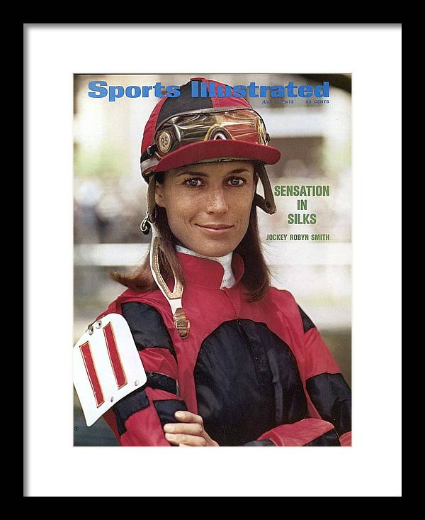 Horse Framed Print featuring the photograph Robyn Smith, Horse Racing Jockey Sports Illustrated Cover by Sports Illustrated