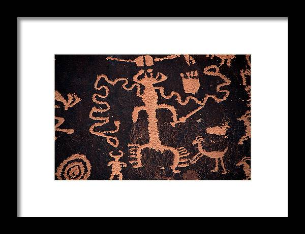 Outdoors Framed Print featuring the photograph Rock Art by Mark Newman