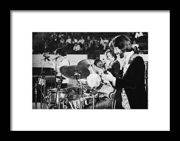 California Framed Print featuring the photograph Rock Star Eric Clapton Playing Guitar by Ralph Crane