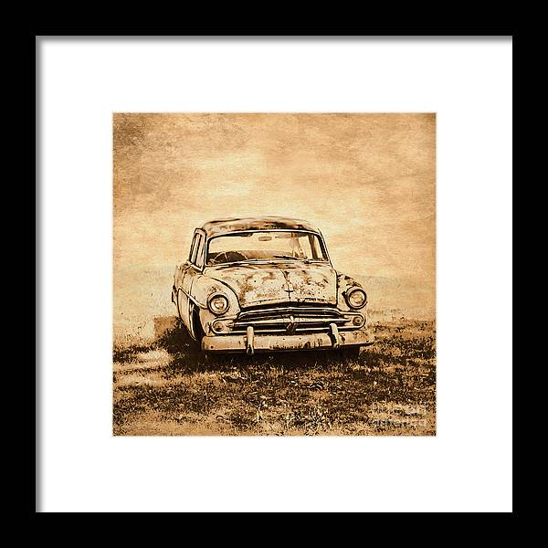 Old Framed Print featuring the photograph Rockabilly Relic by Jorgo Photography - Wall Art Gallery