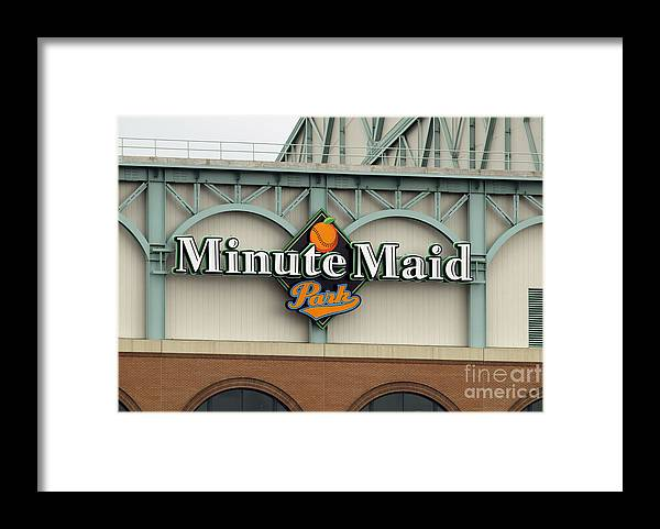 Minute Maid Park Framed Print featuring the photograph Rockies V Astros by Ronald Martinez