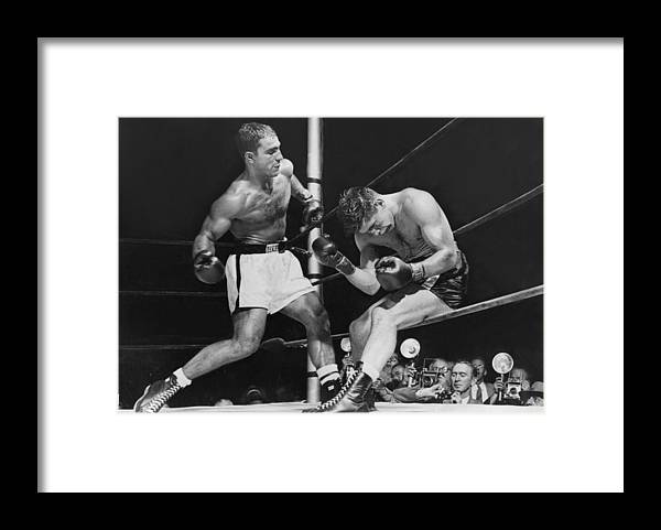 People Framed Print featuring the photograph Rocky Marciano by Keystone