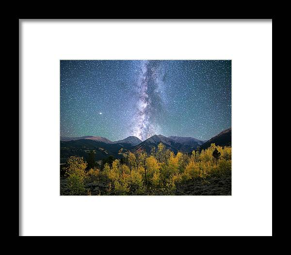Colorado Framed Print featuring the photograph Rocky Mountain Autumn Stars by Aaron Spong