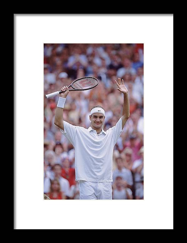 Tennis Framed Print featuring the photograph Roger Federer by Clive Brunskill