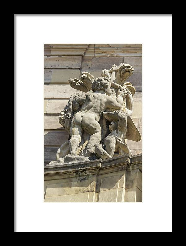 Alsace Framed Print featuring the photograph Rohan Palace Sculpture by Teresa Mucha