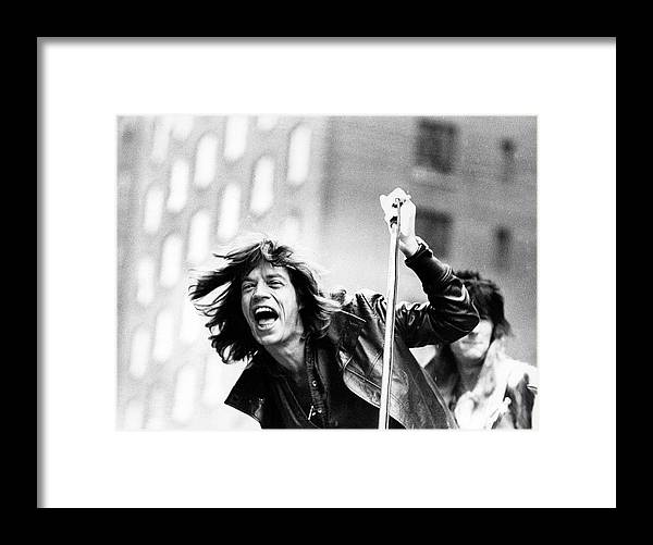 Mick Jagger Framed Print featuring the photograph Rolling Stones On Fifth Avenue by Fred W. McDarrah