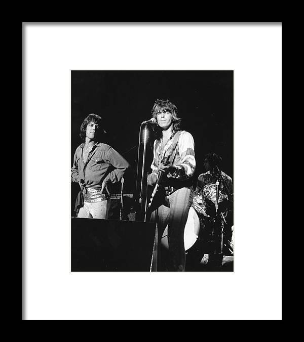 San Francisco Framed Print featuring the photograph Rolling Stones Performing In Sf by Larry Hulst
