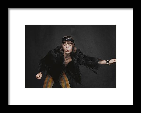 Mick Jagger Framed Print featuring the photograph Rolling Stones Singer by Michael Ochs Archives