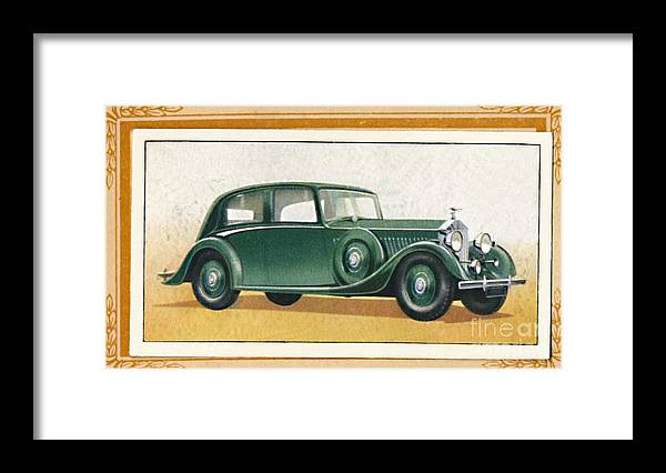 Rolls Royce Framed Print featuring the drawing Rolls-royce 20-25 Saloon, C1936 by Print Collector