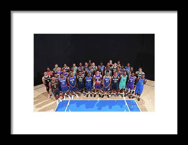 Nba Pro Basketball Framed Print featuring the photograph Rookie Photo Shoot 2017 by Joe Murphy