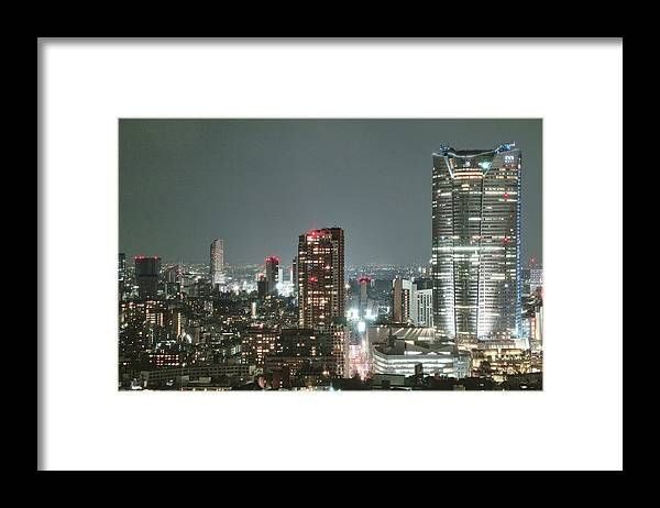 Tokyo Tower Framed Print featuring the photograph Roppongi From Tokyo Tower by Spiraldelight
