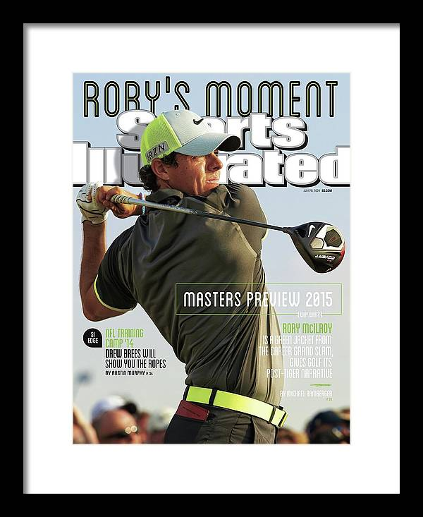 Magazine Cover Framed Print featuring the photograph Rorys Moment 2014 British Open Sports Illustrated Cover by Sports Illustrated