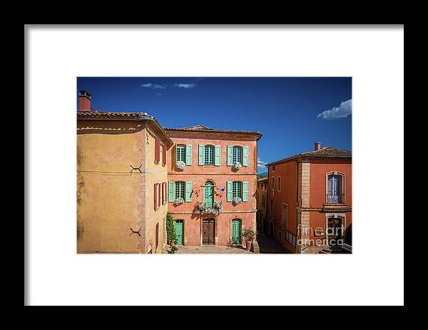 Europa Framed Print featuring the photograph Roussilon Town Square by Inge Johnsson