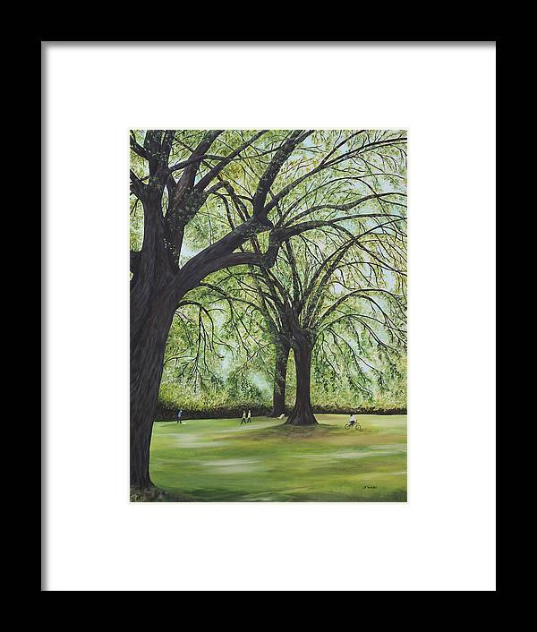 Landscape Framed Print featuring the painting Royal Botanical by Johanna Wray