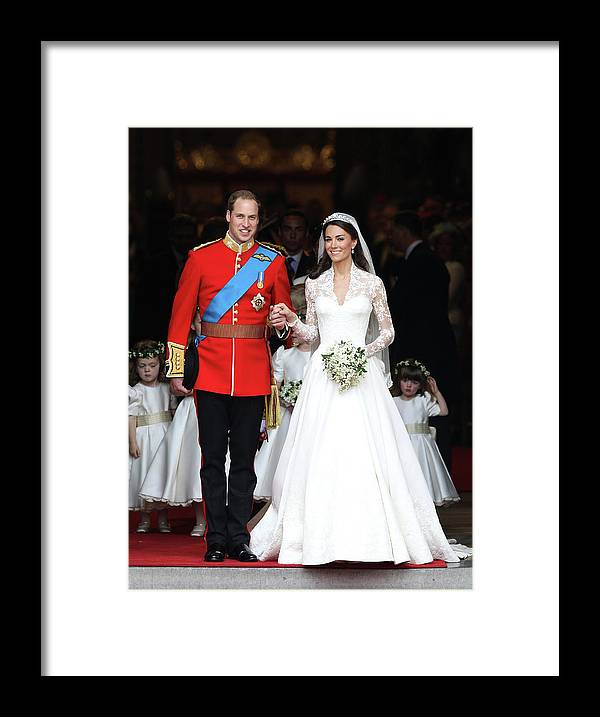 Following Framed Print featuring the photograph Royal Wedding - Carriage Procession To by Chris Jackson