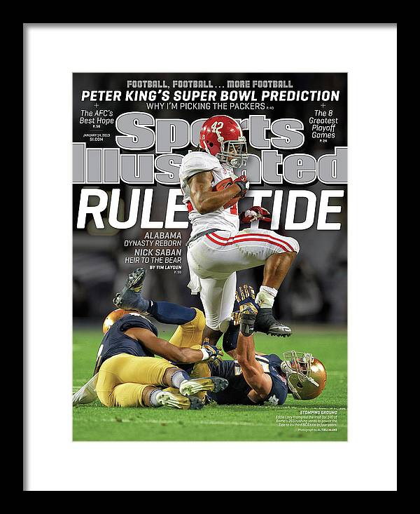Miami Gardens Framed Print featuring the photograph Rule Tide Alabama Dynasty Reborn Sports Illustrated Cover by Sports Illustrated