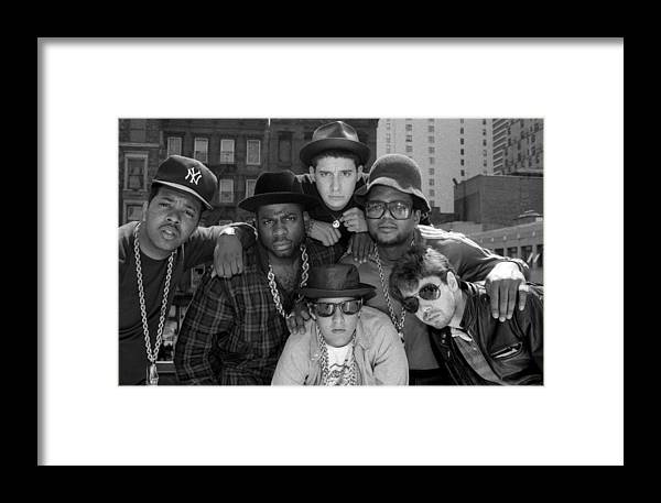 1980-1989 Framed Print featuring the photograph Run-dmc & Beastie Boys by New York Daily News Archive