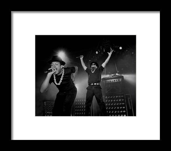 Darryl Mcdaniels Framed Print featuring the photograph Run Dmc Live In Concert by Raymond Boyd