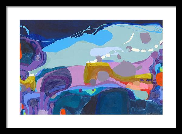 Abstract Framed Print featuring the painting Rush Hour by Claire Desjardins