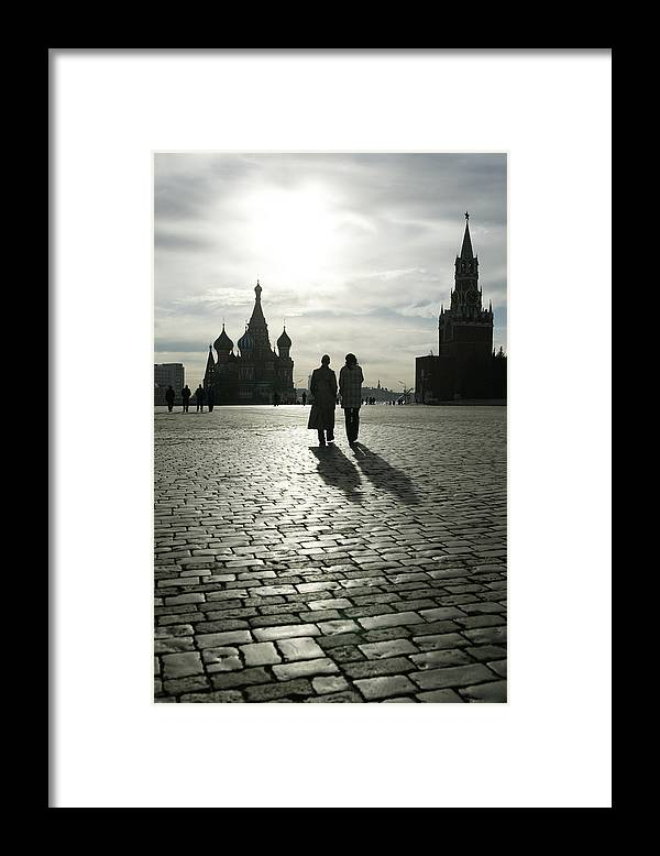 Shadow Framed Print featuring the photograph Russia, Moscow, Red Square, Silhouette by Will & Deni Mcintyre